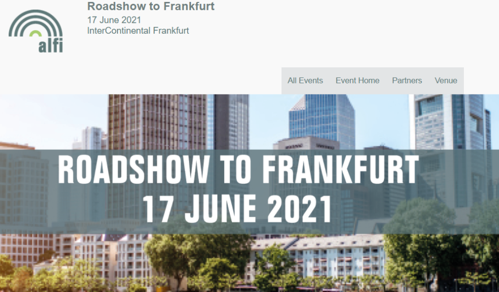 ALFI Roadshow to Frankfurt