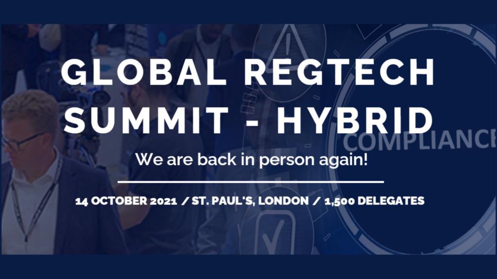 Global RegTech summit – hybrid