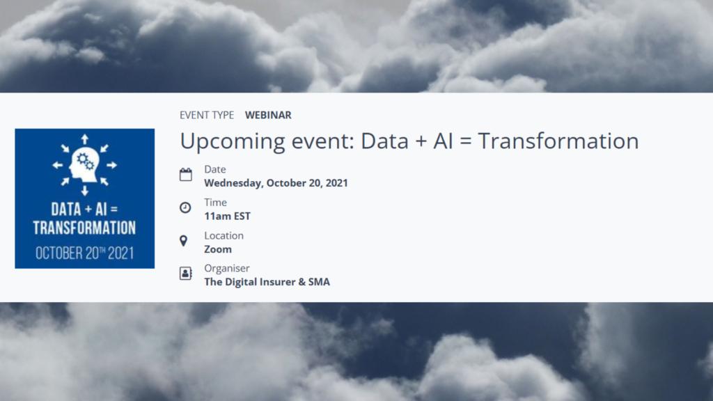 Data + AI = Transformation
